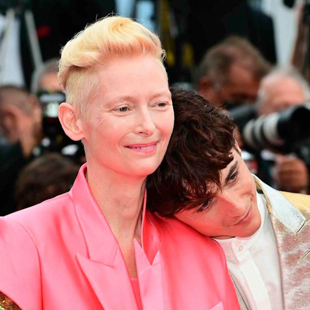 La broma que Tilda Swinton le hizo a Timothée en el Festival de Cannes