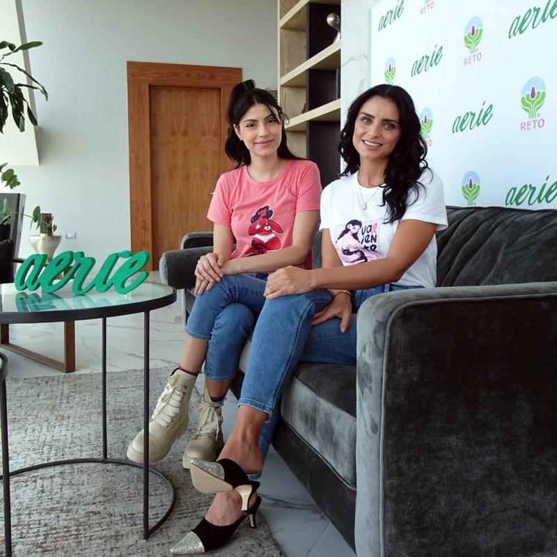 Aislinn Derbez y Bárbara López nos cuentan del Pink October de Aerie