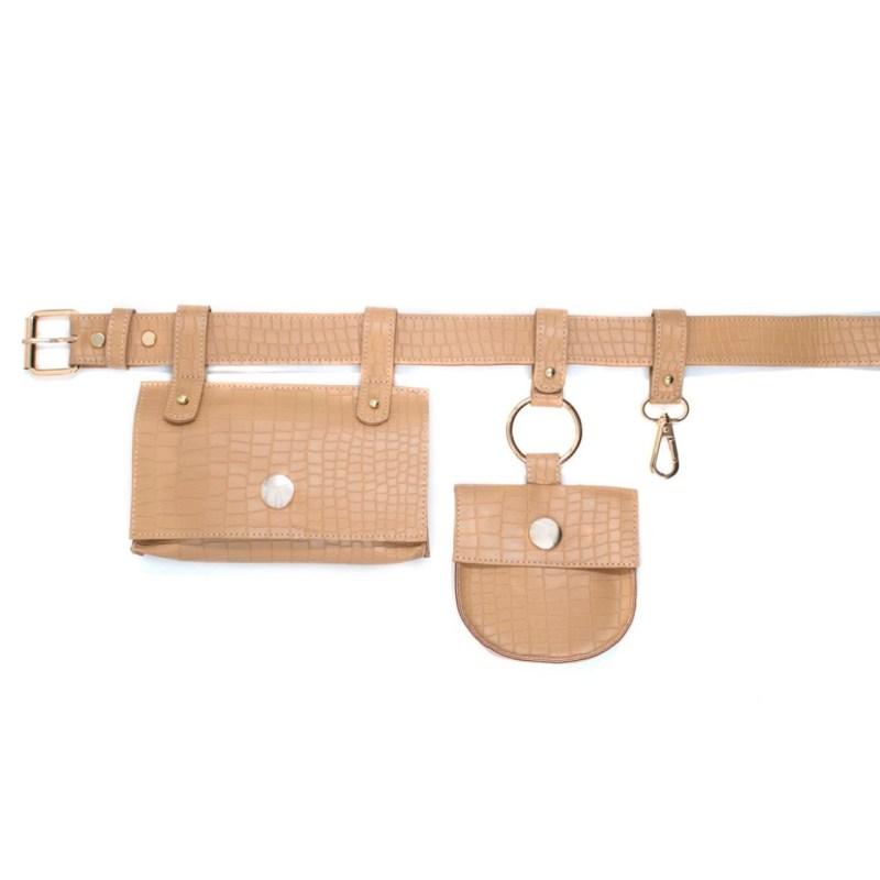 cinturón con bolsas