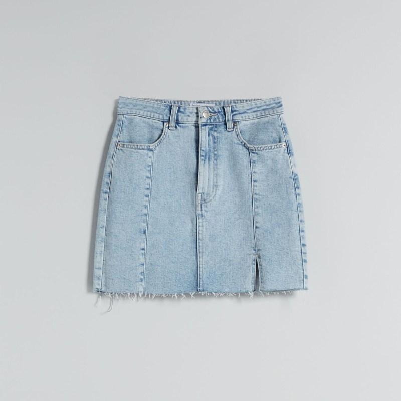 falda de mezclilla high waist