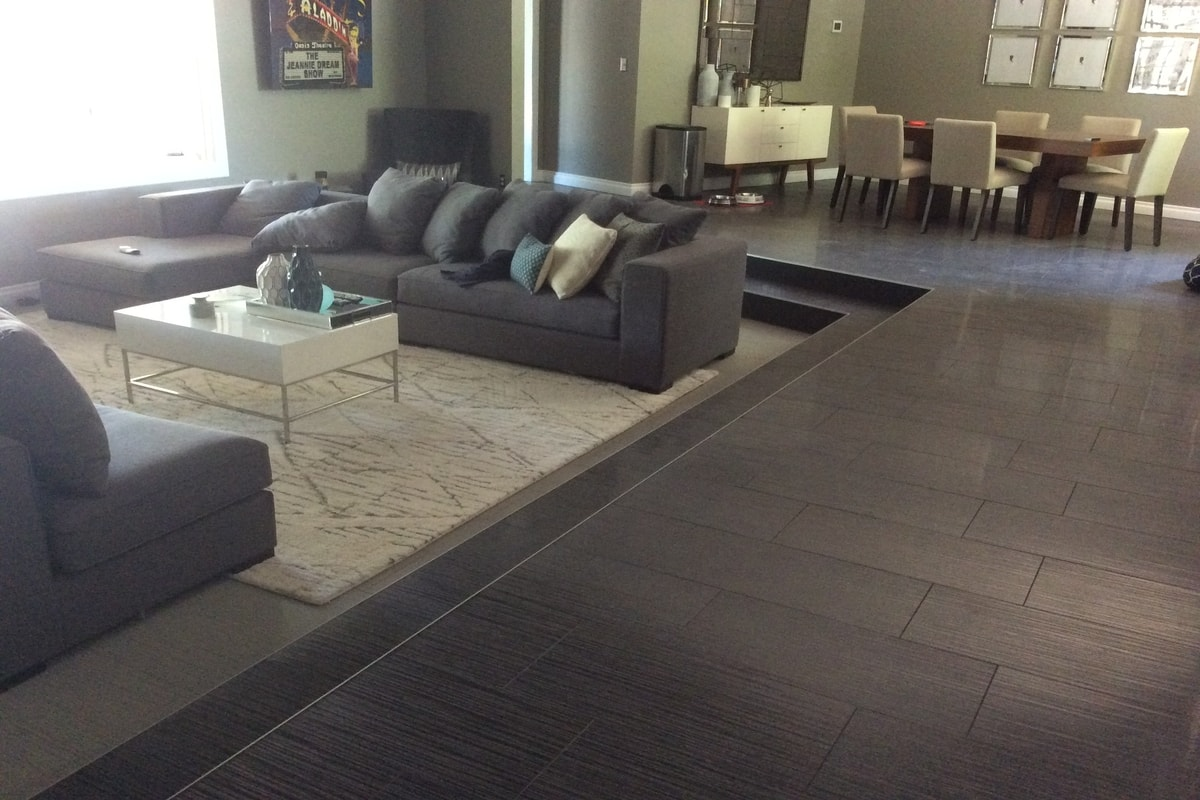 laminate flooring sunken living room ideas color for rooms las vegas residential wholesale and design services idea with area rug