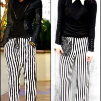 A Trendy Moment: Beetlejuice Ain't Got Nothing On These Striped Pants & Jeans!