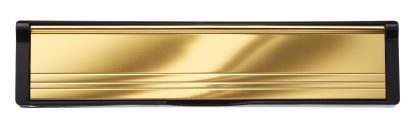 Gold Flaps Black Frame Elite Mail Slot