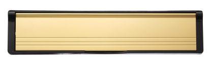 Matte Gold Flaps Black Frame Elite Mail Slot