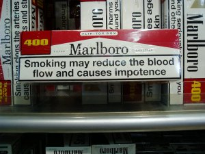 Tobacco manufacturers began putting health warnings on cigarettes in the UK in 1971