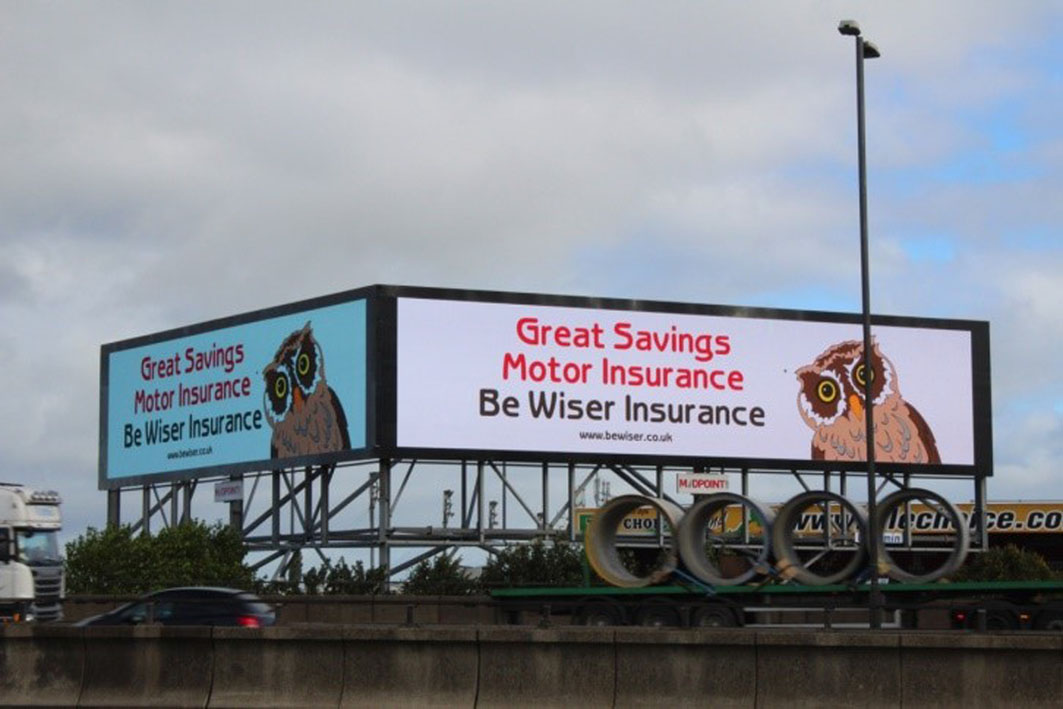 Be Wiser insurance ad campaign