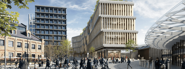 kings cross google construction project insurance costs