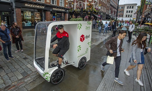 dpd electric assist quad bicycle delivery
