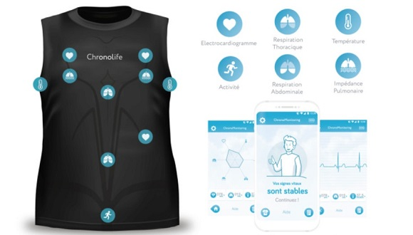 chronolife wearable clothing health insurance monitoring