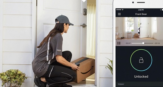 amazon smart home lock delivery