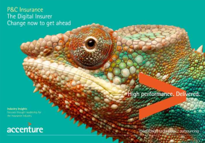 P&C Insurance The Digital Insurer - Change now to get ahead