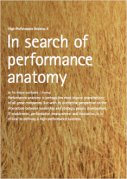 In search of performance anatomy