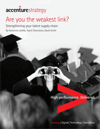 Are you the weakest link? Strengthening your talent supply chain