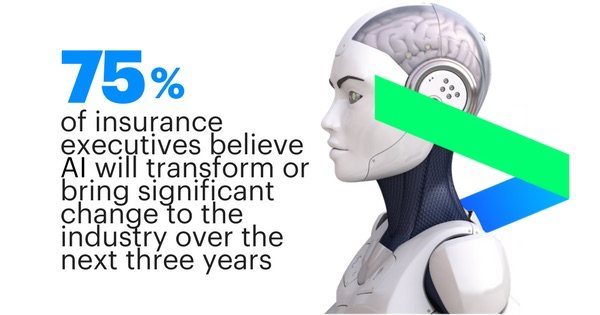 75 percent of insurance executives believe AI will transform or bring significant change to the industry over the next three years