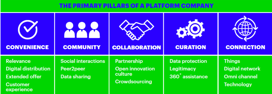 The primary pillars of a platform company