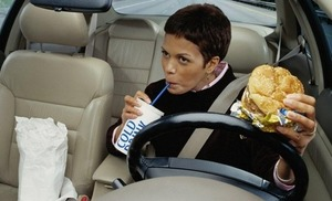 car insurance rates while eating
