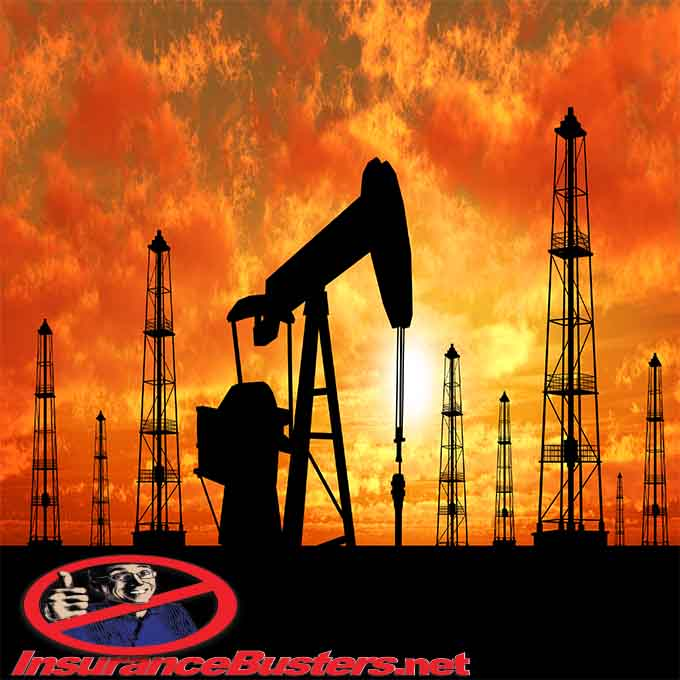 InsuranceBusters.net Oil Field Sunset
