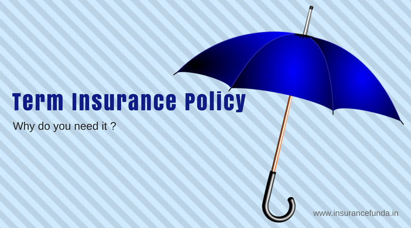 Term insurance policy or plan why do you need it