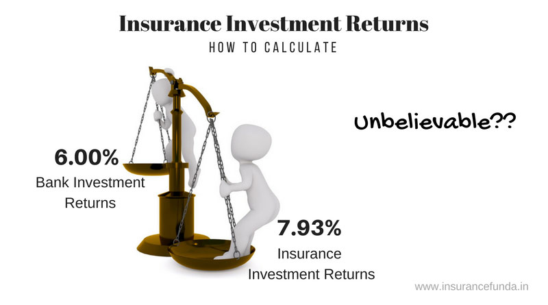 Insurance investment returns calculation using irr