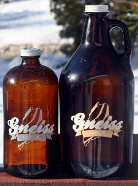Gneiss Brewing Growlers