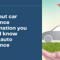 All about car insurance Information you should know about auto insurance