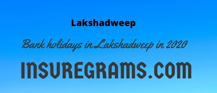 Bank holidays in Lakshadweep