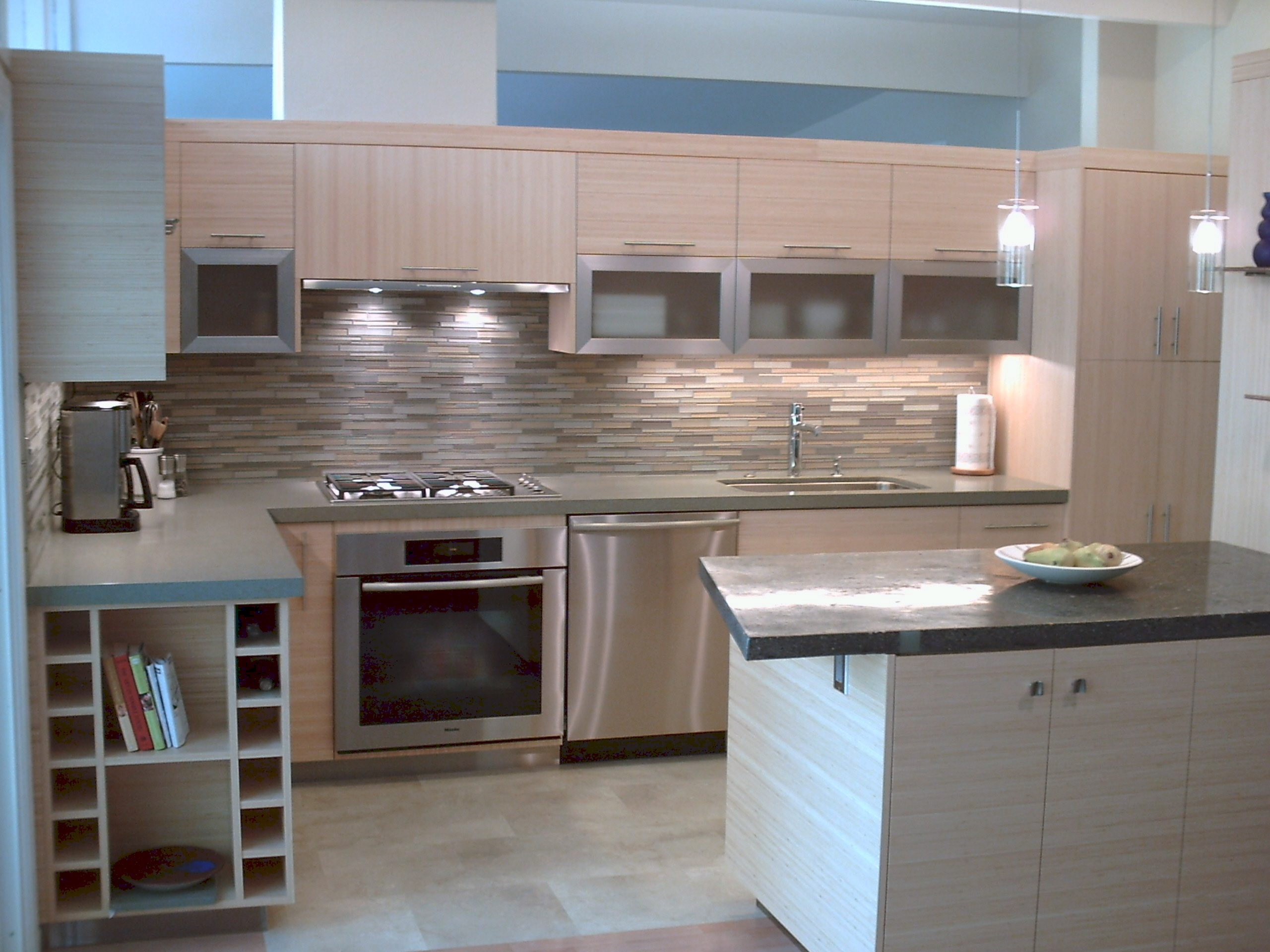 mid range kitchen cabinets small apartment bamboo remodel dining side imk