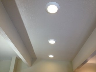 Recessed LCD lights have worked well and provide plenty of light.