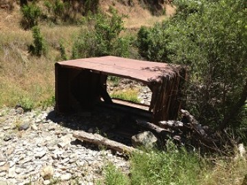 Rock hopper left in Norton Ravine Creek.
