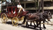 Wells Fargo pulling a stage coach full of pride.