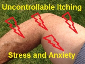 Uncontrollable Itching On Arms Neck from Stress and Anxiety