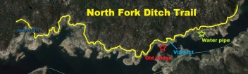 North Fork Ditch Trail map