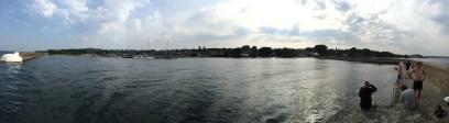 Il borgo visto dal porto