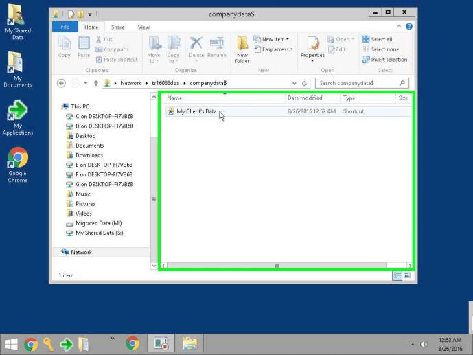 cloud desktop client data file screenshot