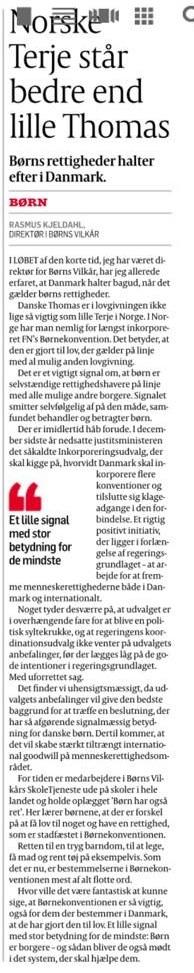 Norske Terje står bedre end danske Thomas