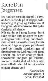 Dan Jørgensen & Omskæring