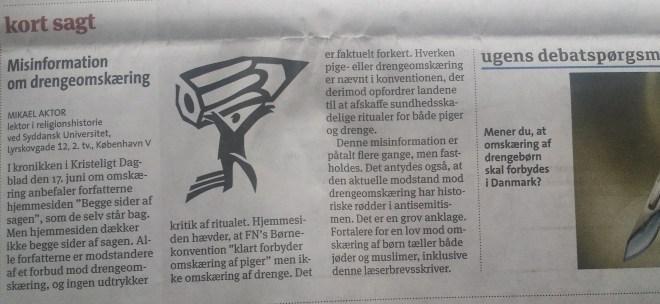 Intact Denmark, Drengeomskæring