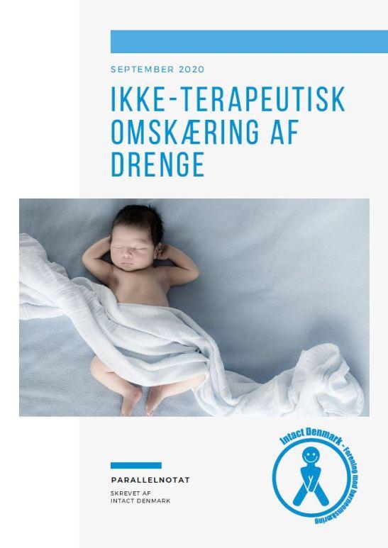 Ikke-terapeutisk omskæring af drenge - Parallelnotat skrevet af Intact Denmark