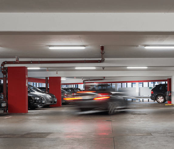 Car Park Lighting with Lighting Controls Presence Detection