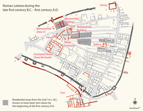small resolution of figure 3 map of roman lattara during the late first century bc and first century ad map modified by the author courtesy of lattes excavations ufral