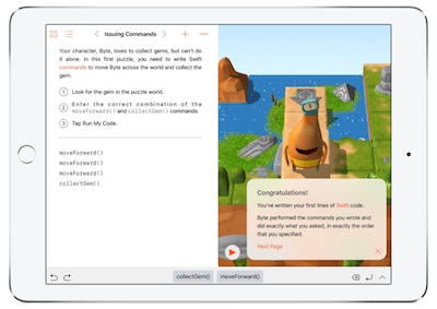 Swift Playgrounds on iPad