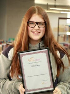 Image of WIC Student Encouragement Award Recipient