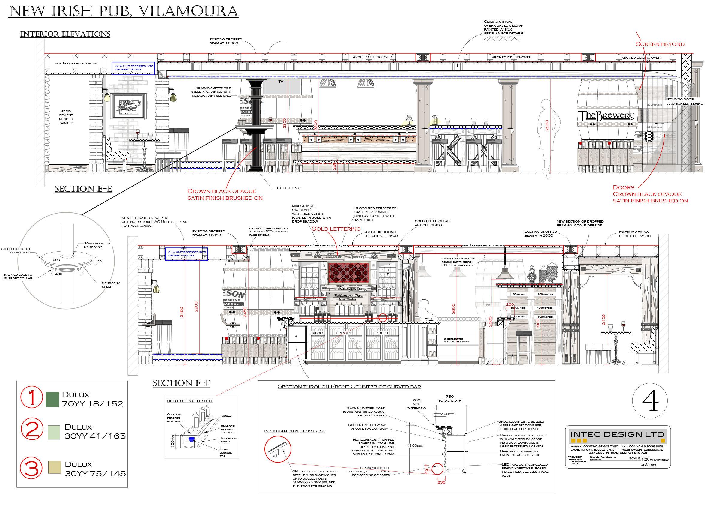 Bar design drawings