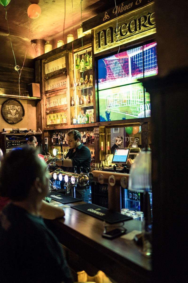Traditional bar design Prague
