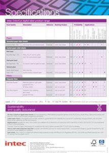 ColorCut Sheet label Media Specification thumbnail