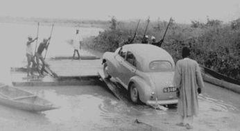 Car Ferry | 1951 | Bida, Nigeria | ©Ted Jefferies