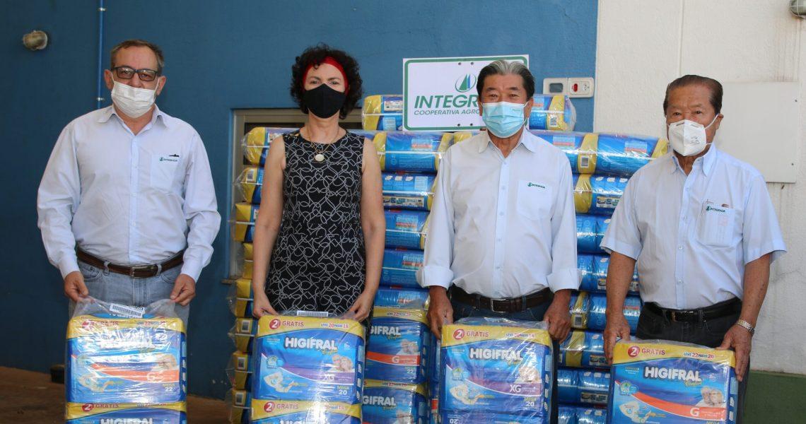 Solidariedade – Integrada doa fraldas para o Hospital do Câncer de Londrina