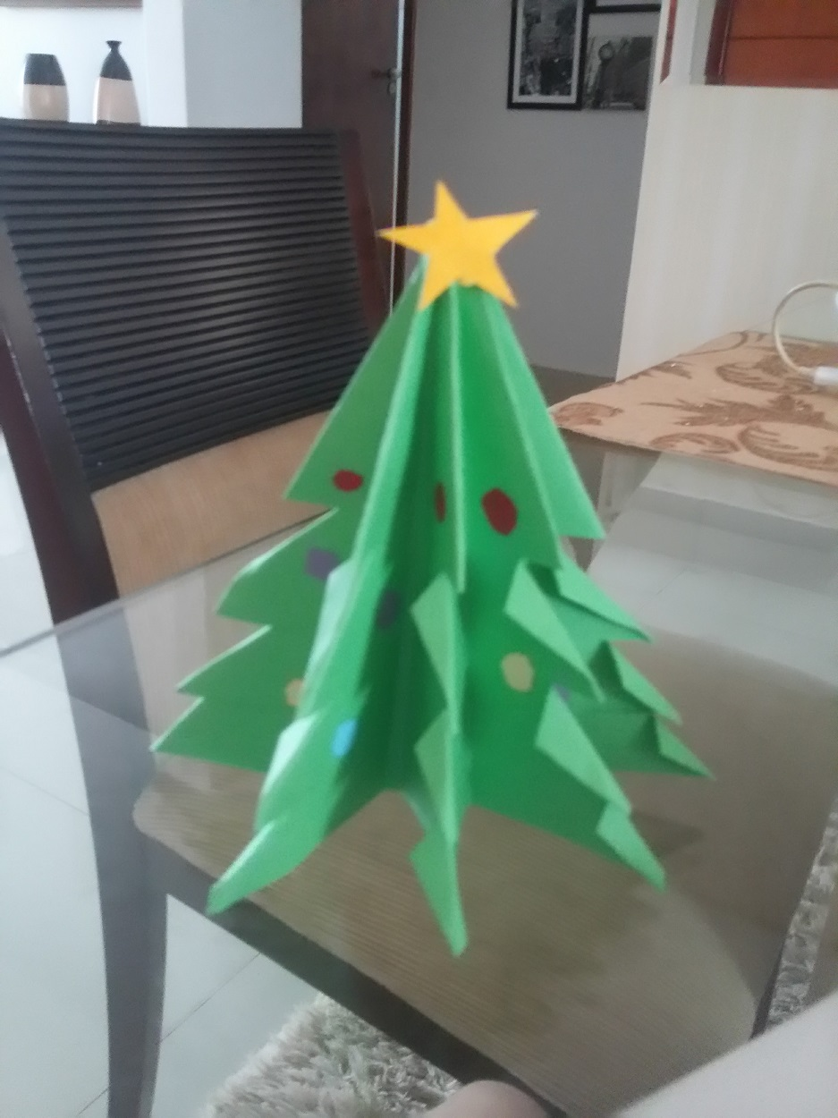 árvore de papel – origami
