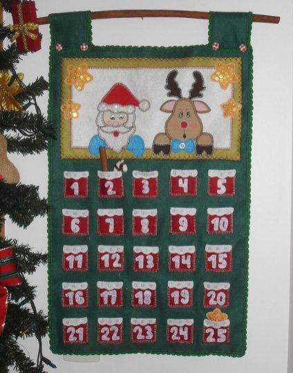 Calendário do Advento – papel e papai Noel