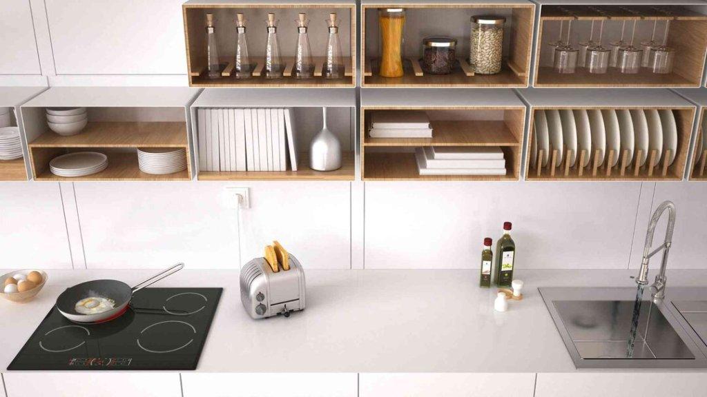 decoração de cozinha com prateleiras 2